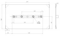 Комплект затир. ножей 150x270 мм (4 шт.); Комбинированный