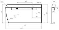 Комплект лопастей для затирочн. маш. GROST - 120х230 мм (4шт.)