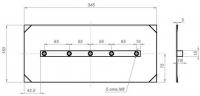 Комплект лопастей для затирочн. маш. GROST - 150х350 мм (4шт.)